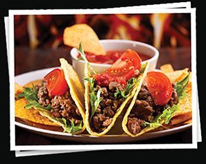 Mexické speciality nebo nebo šťavnaté americké steaky a hamburgery.